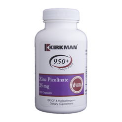 Kirkman Labs Zinc Picolinate 25 mg 150 caps K54231