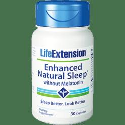 Life Extension Enhanced Sleep w o Melatonin 30 vegcaps L01511