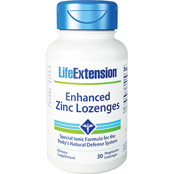 Life Extension Enhanced Zinc 30 veg lozenges L96136