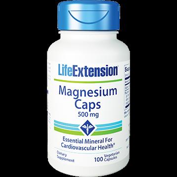 Life Extension Magnesium 500mg 100 vegcaps E45912