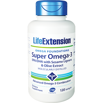 Life Extension Super Omega 3 EPA DHA 120 softgels L48210