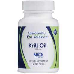 Longevity Science NKO Krill 500 mg 60 gels NKO