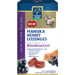 Manuka Health Manuka Honey Blackcurrent 15 lozenges M02350