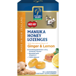 Manuka Health Manuka Honey Lemon amp Ginger 15 lozenges M52336