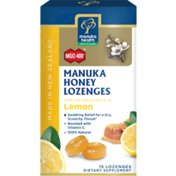 Manuka Health Manuka Honey amp Lemon 15 Lozenges M02299