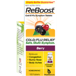 MediNatura ReBoost Cold Flu Tablets Berry 100 tabs M52185