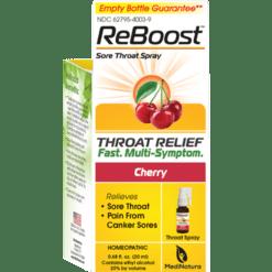 MediNatura ReBoost Throat Spray Cherry 0.68 fl oz M00969