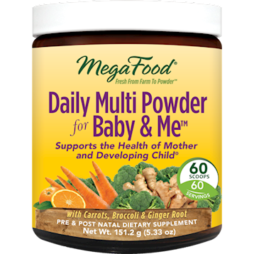 MegaFood Daily Multi Powder Baby amp Me 60 servings M01556