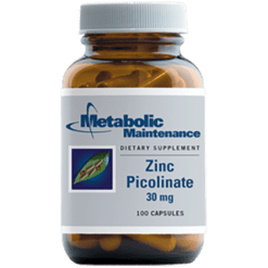 Metabolic Maintenance Zinc Picolinate 30 mg 100 caps ZIN33