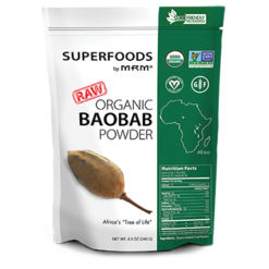 Metabolic Response Modifier Raw Organic Baobab Fruit Powder 8.5 oz M92846