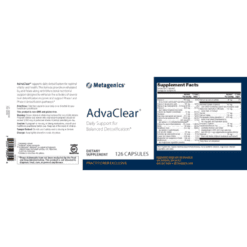 Metagenics AdvaClear Label