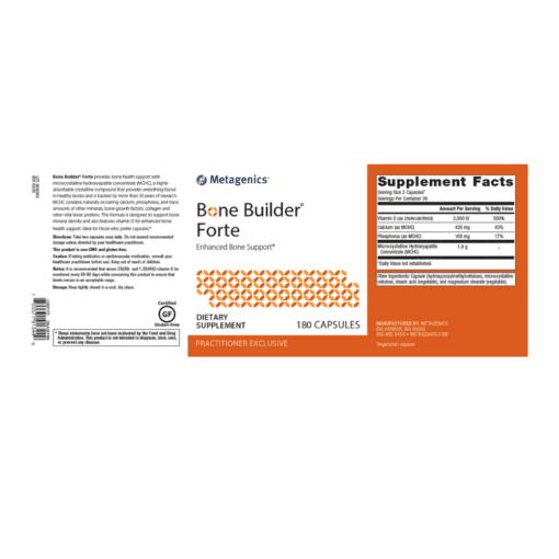 Metagenics Bone Builder Forte 180s Label