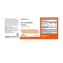 Metagenics Bone Builder Prime 270s Label