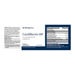 Metagenics CandiBactin AR 60s Label