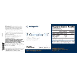 Metagenics E Complex- 1: 1 Label