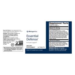 Metagenics Essential Defense Label