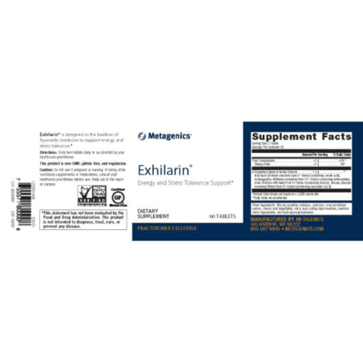 Metagenics Exhilarin Label
