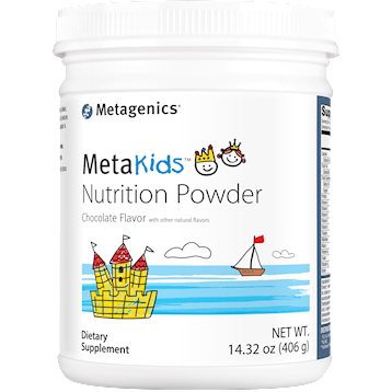 Metagenics MetaKids Nutrition Powder Choc 14 serv M49240