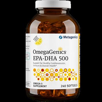 Metagenics OmegaGenics™ EPA DHA 500 Lemon 240 gels M34833