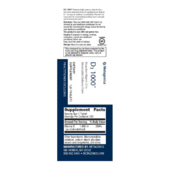 Metagenics Vitamin D3 1000 Label