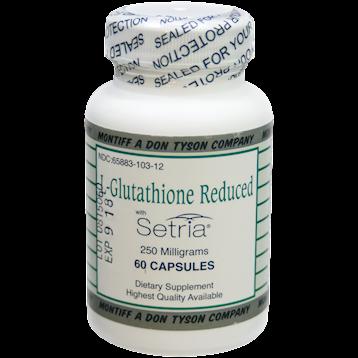 Montiff L Glutathione Reduced 250 mg 60 caps LGLU4