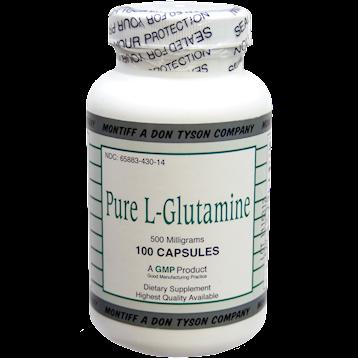 Montiff Pure L Glutamine 500 mg 100 capsules GLU94