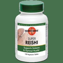 Mushroom Wisdom Inc. Super Reishi 120 vegetarian tablets WRS120