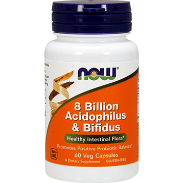 NOW 8 Billion Acidophilus amp Bifidus 60 vcaps N2930