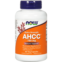 NOW AHCC Extra Strength 750 mg 60 vegetarian capsules N3034