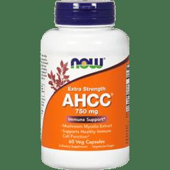 NOW AHCC Extra Strength 750 mg 60 vegetarian capsules N3034