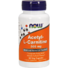 NOW Acetyl L Carnitine 500 mg 50 vcaps N0075
