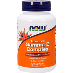 NOW Advanced Gamma E Complex 120 softgels N0811