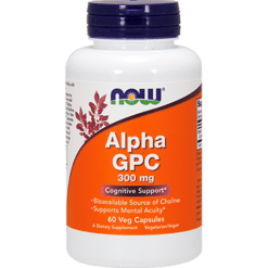 NOW Alpha GPC 300 mg 60 vegcaps N30856
