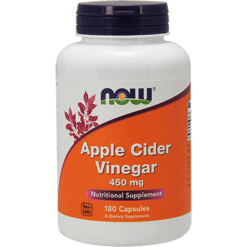 NOW Apple Cider Vinegar 450 mg 180 caps N3317
