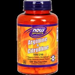 NOW Arginine amp Citrulline 120 caps N00378