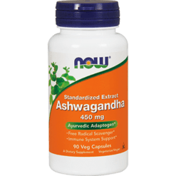 NOW Ashwagandha 450 mg 90 vegcaps N4603