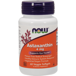 NOW Astaxanthin 4 mg 60 veggie softgels N3251