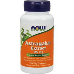 NOW Astragalus Extract 500 mg 90 vegcaps N4598