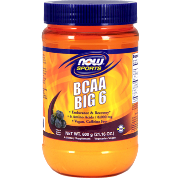 NOW BCAA Big 6 Grape 600 g N01191