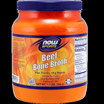 NOW Beef Bone Broth Powder 18 servings N19608