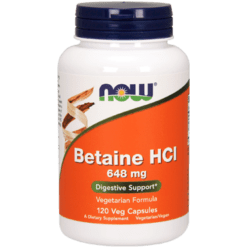 NOW Betaine HCl 648 mg 120 vegcaps N2938