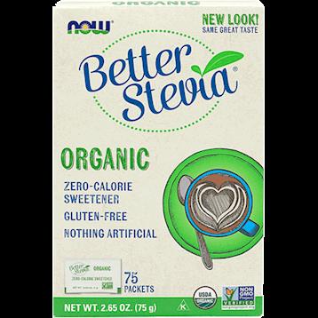 NOW Better Stevia Organic packets 75 box N69429