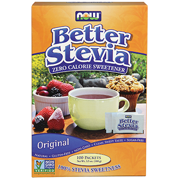 NOW Better Stevia Packets 100 box N69573