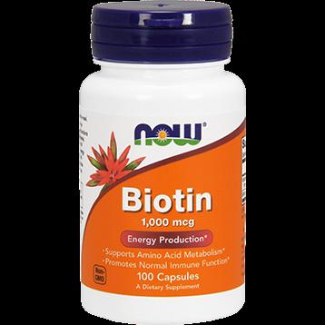 NOW Biotin 1000 mcg 100 capsules N0469