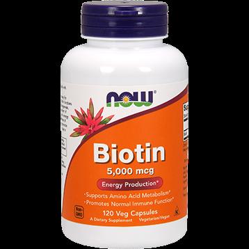NOW Biotin 5000 mcg 120 vegetarian capsules N0474