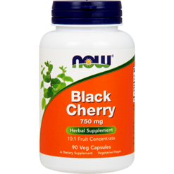NOW Black Cherry Fruit 750 mg 90 vegcaps N4630