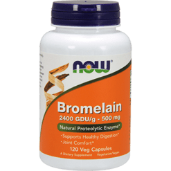 NOW Bromelain 2400 GDU g 500 mg 120 vcaps N2947