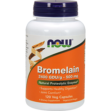 NOW Bromelain 2400 GDU g 500 mg 120 vcaps N2947