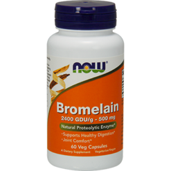 NOW Bromelain 2400 GDU g 500 mg 60 vcaps N2943