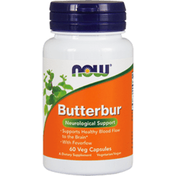 NOW Butterbur 75 mg 60 vegetarian capsules N4602